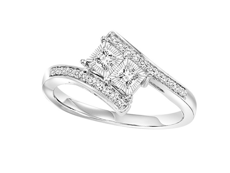 14kt White Gold Twogether 1/4ct Diamond Ring by Twogether