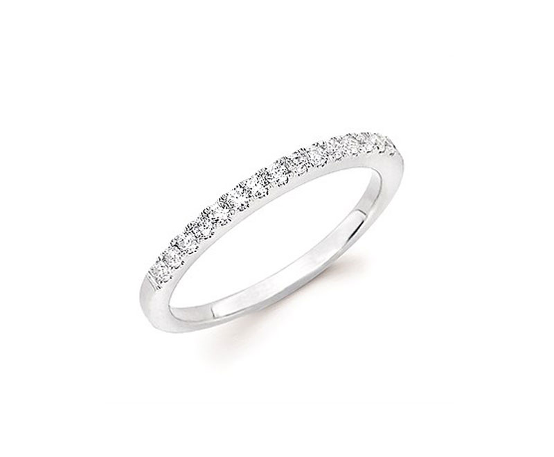 14kt White Gold Diamond Ring by Ostbye