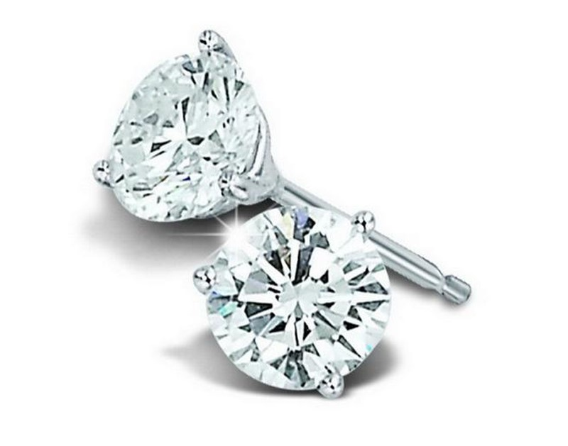 14kt white gold diamond stud earrings 001 150 01749 for Bellissima jewelry moschitto designs