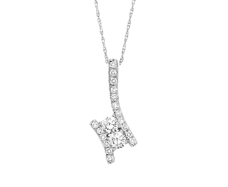 14kt white gold twogether diamond necklace 001 165 01090 for Bellissima jewelry moschitto designs