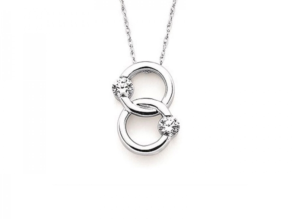 14kt White Gold Twogether Diamond Necklace by Twogether
