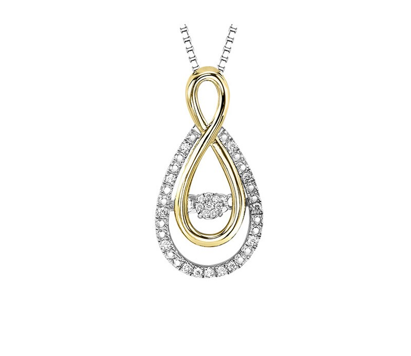 Sterling silver 10kt yellow gold rhythm of love diamond necklace sterling silver 10kt yellow gold rhythm of love diamond necklace 001 165 01210 diamond necklaces from dons jewelry design washington ia aloadofball Image collections