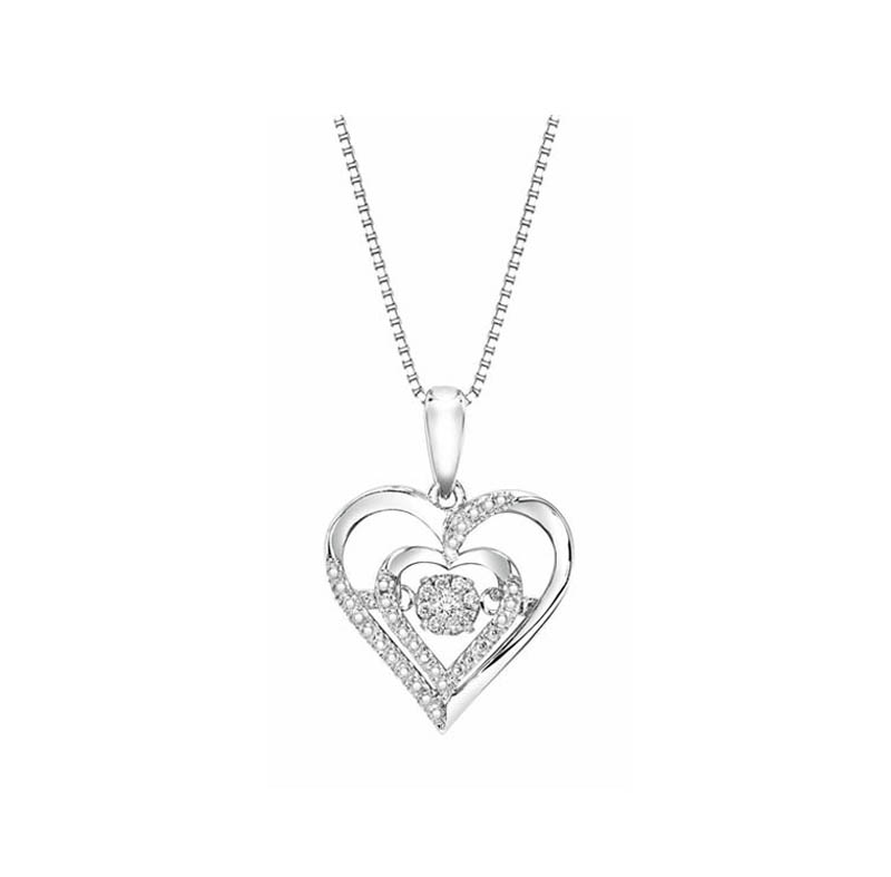 Sterling silver rhythm of love diamond necklace 001 165 01231 sterling silver rhythm of love diamond necklace 001 165 01231 diamond necklaces from dons jewelry design washington ia aloadofball Image collections