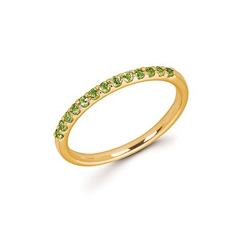 14kt Yellow Gold Peridot Stackable Ring by Ostbye