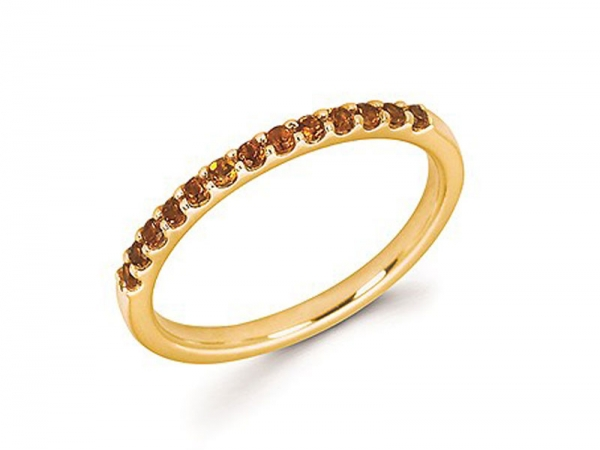14kt Yellow Gold Citrine Stackable Ring by Ostbye