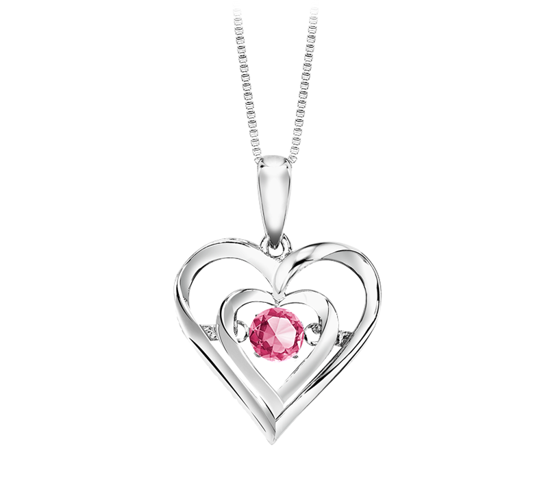 Sterling Silver Pink Tourmaline Rhythm of Love Necklace by Rhythm of Love