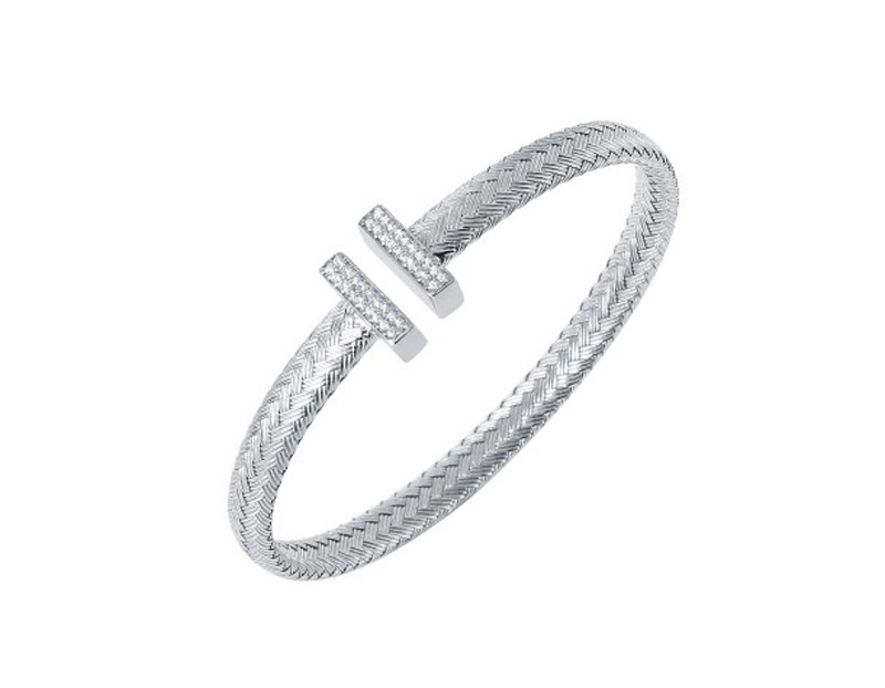 Sterling silver cz cuff bracelet 001 610 00962 bracelets for Bellissima jewelry moschitto designs