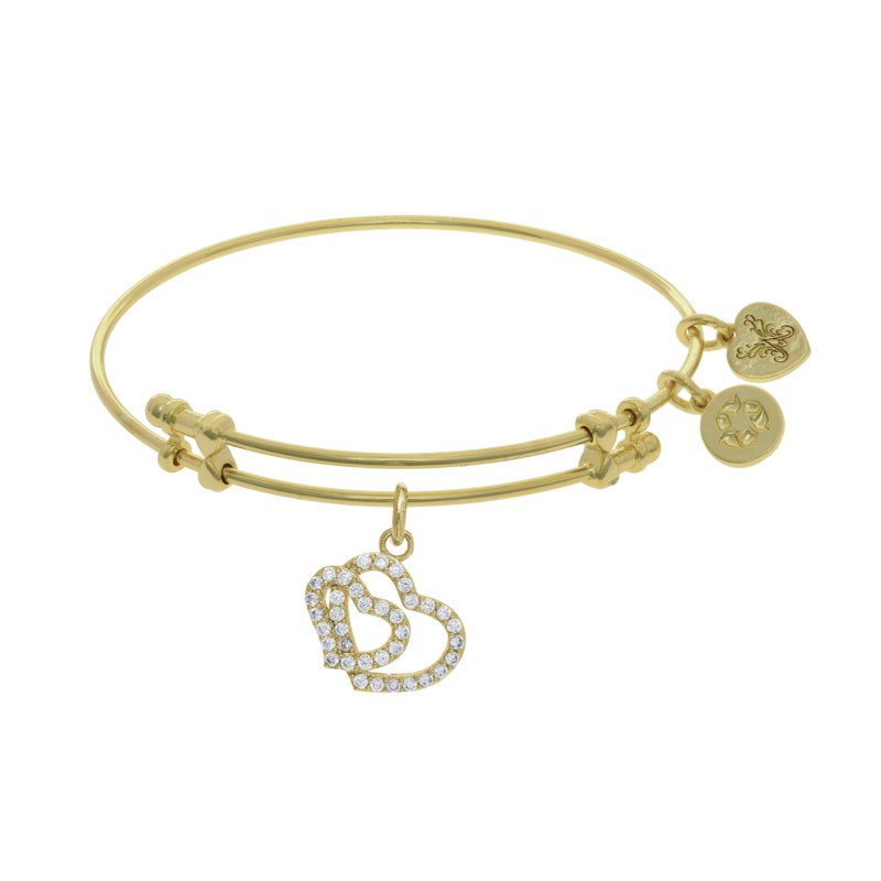 Brass Yellow Double Heart Angelica Bracelet by Angelica