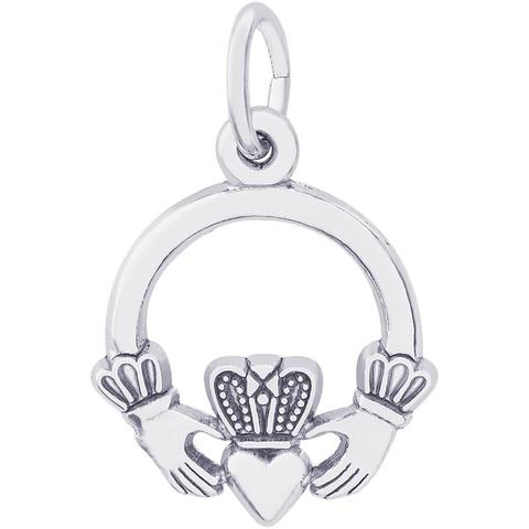 Sterling Silver Claddagh Charm by Rembrandt Charms