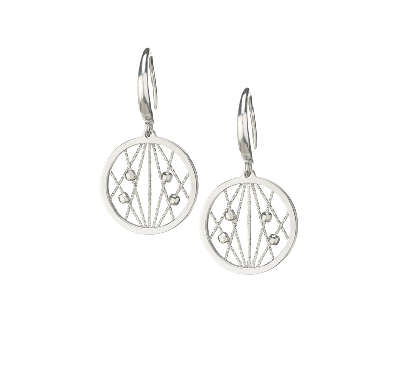 Sterling Silver Drop Earrings by Frederic Duclos