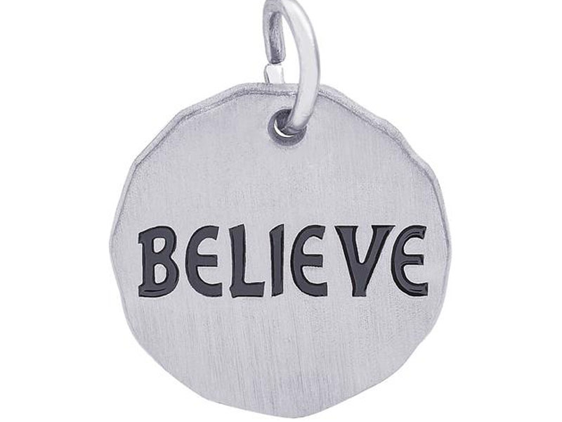 Sterling Silver Believe Charm by Rembrandt Charms