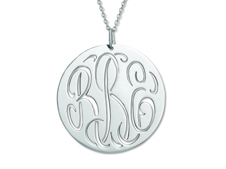Sterling Silver Monogram Necklace by Overnight