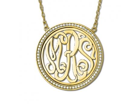 Diamond bezel monogram necklace pnk0068 8 necklaces from for Bellissima jewelry moschitto designs