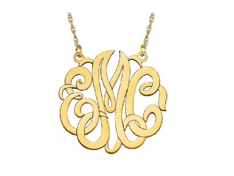 10kt yellow gold monogram necklace pnk0069 3 necklaces for Bellissima jewelry moschitto designs