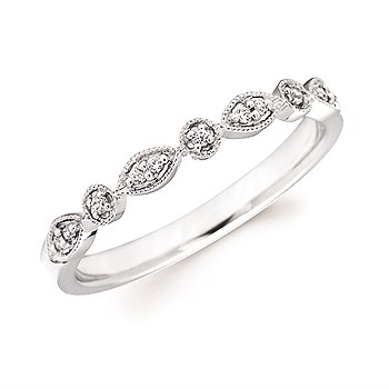 14kt White Gold Diamond Stackable Ring by Ostbye