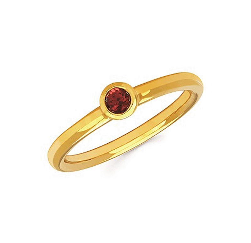 Sterling Silver Stackable Garnet Ring by Ostbye