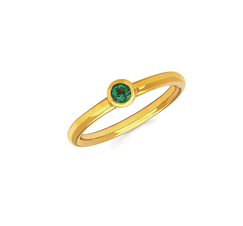 Sterling Silver Stackable Emerald Ring by Ostbye
