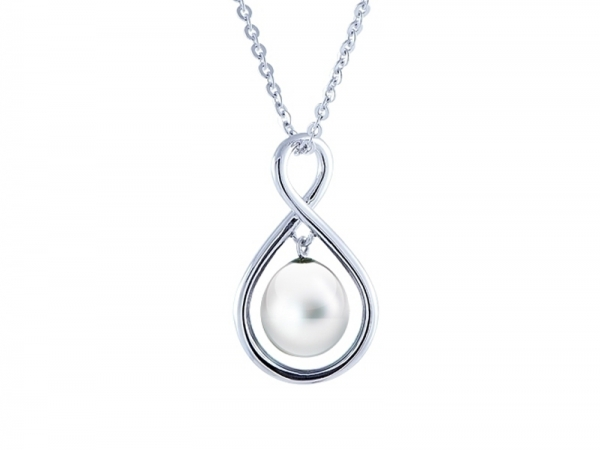 Sterling Silver Freshwater Pearl Necklace by Imperial Pearls
