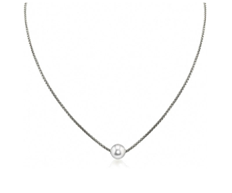 Sterling Silver Pearl Necklace by Imperial Pearls