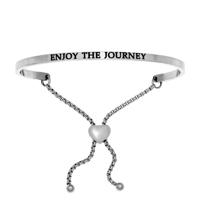 Stainless Steel Enjoy the Journey Bracelet by Angelica