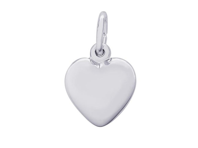 Sterling Silver Puffy Heart Charm by Rembrandt Charms